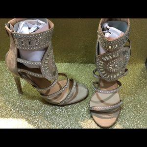 Beige statement sandals. Brand new with box.